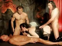 масов секс, латекс, естествени цици, четворка, бельо