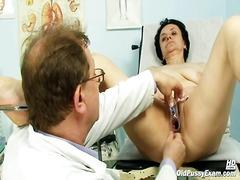 píča, babičky, vagina, vyšetřovací zrcátko, zralý ženský, gynekologie