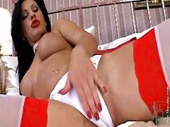 velký prsa, vyholený, dávení penisem