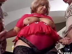 kova porno, kolmisin, isoäiti, suuret naiset