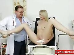 медицински, блондинки, яки мацки, широко отворени путки