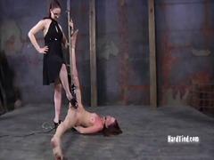 ydmygelse, store patter, smerte, bondage, bdsm, kvindelig dominans, spanking, slave