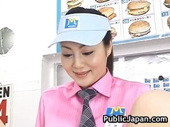 японки, азиатки, публично, сред природата, воайор