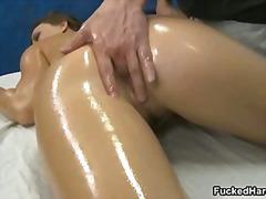 massage, reiben, babe, oral, blowjob, pussy, hardcore, öl, nass