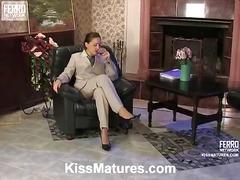 секретарки, орално, лесбийки, чорапи, кафеви