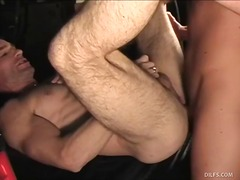 pasangan, beruang, porno hardcore, sesama jenis, isap, kereta, hisap konek