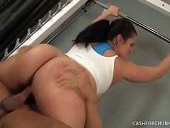 hardcore, gym, große brüste, prall, große dicke frauen