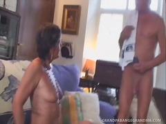 isoäiti, kypsä, kova porno