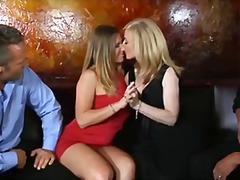 bintang porno, si rambut perang, rambut blonde, ibu seksi, berkumpulan, tetek mantap