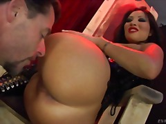 brunette, oral, corset, bdsm, pornstar, asian, latex, ass, ass-licking, pussy-eating