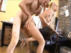 blonde, pornstar, babe, secretary, hardcore, blowjob, office, ass, anal