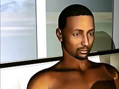 große brüste, interracial, großer schwanz, gangbang, 3d