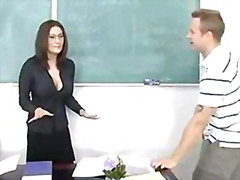 stora bröst, i ansiktet, lärare, milf