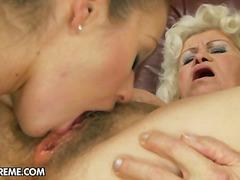 valkoinen, suudelma, takapuoli, pikkarit, anaali, luonnolliset rinnat, isoäiti, ruskea, oraali