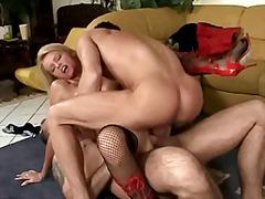 групов секс, бабички, дълбоко проникване, на лицето