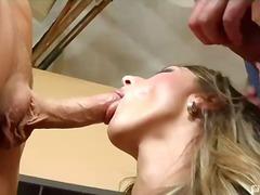 porno hardcore, rambut blonde, ber-3, hisap konek, isap, dua lelaki satu perempuan