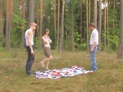 rus, üçlü, genç