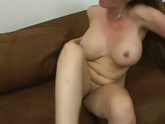 hardcore, mom, white, fucking, brunette, mature, tits, mommy, creampie, sofa