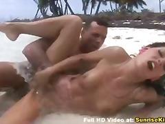 модели, празнене, орално, бикини, плаж, сперма