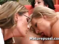 lesbian, reality, lesbos, babe, milf, older, eating, threesome, threeway, panties