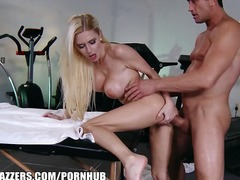 duboko, analni sex, ulje, masaža, orgazam, pušenje kurca, plavuše
