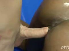 ebenholz, rasiert, arsch, masturbationen, vagina, oral, pärchen, blowjob, ins gesicht spritzen, tittjob