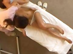 sperma v obličeji, felace, asiatky, vyvrcholení, orgasmus, masáže