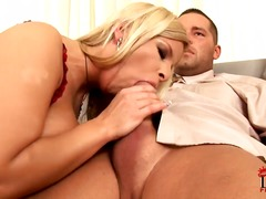 blond, couch, female domination, fersen, massage, piercing, titten, schwanz, blowjob, anal