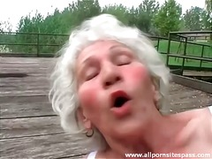 dildo, haarig, granny