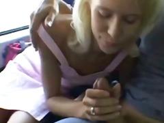 artis porno, rambut pirang, remaja, kurus, di luar ruangan, mani muncrat, mobil