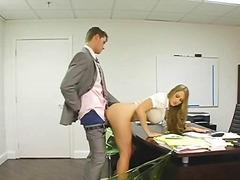 poilues, travail, bureaux, par dérrière, cul, blondes, seins, excitation