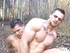 сред природата, анално, гей, дупета