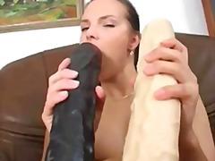 извратени, дилдо, мастурбация, брюнетки, вкарване