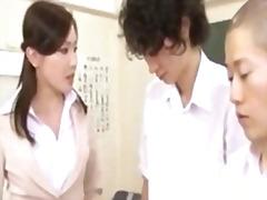 японки, азиатки, ученички, учител