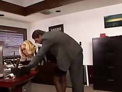 bril, oraal, kousen, paar, pornoster, blond, kantoor, pijpen, tieten, secretaresse