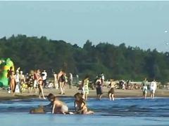 аматьори, публично, плаж
