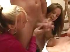 групов секс, воайор, женска доминация, лъскане, унижение