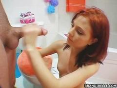 червенокоси, чекия, жена гол мъж, бельо, баня