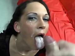 европейки, групов секс, трио, на лицето, сперма, празнене