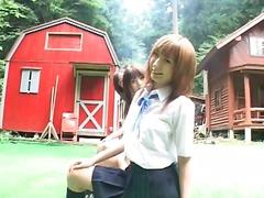 японки, училище, къса пола