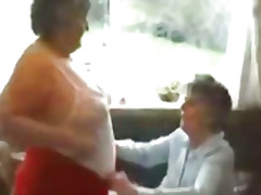 seidenstrümpfe, granny, cumshot, reif