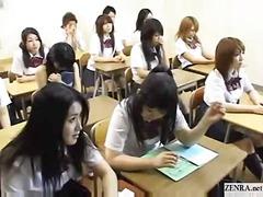 училище, азиатки, тийнейджъри, голи жени