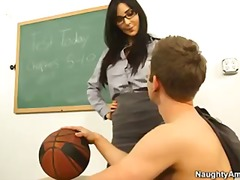hardcore, professor, first, diana, teacher, school, students, busty, brunette