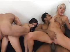 групов секс, празнене, гълтане, междурасово