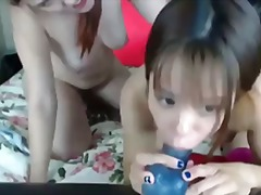 порно звезди, страп-он, лесбийки, китайки, играчка