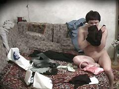 голи, брюнетки, воайор, шпионски, легло, скрит, облечени
