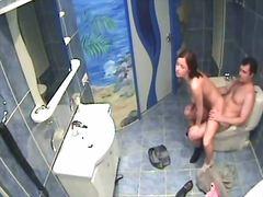 oral, hardcore, voyeur, ausspionieren, badezimmer, akt, versteckt