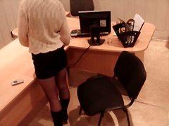офис, момичета, шпионски, скрит, високи токчета