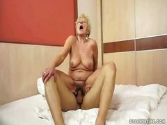 mutti, vagina, hardcore, reif, pussy, penetration, granny, junge