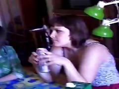 opilý, párty, mladý holky